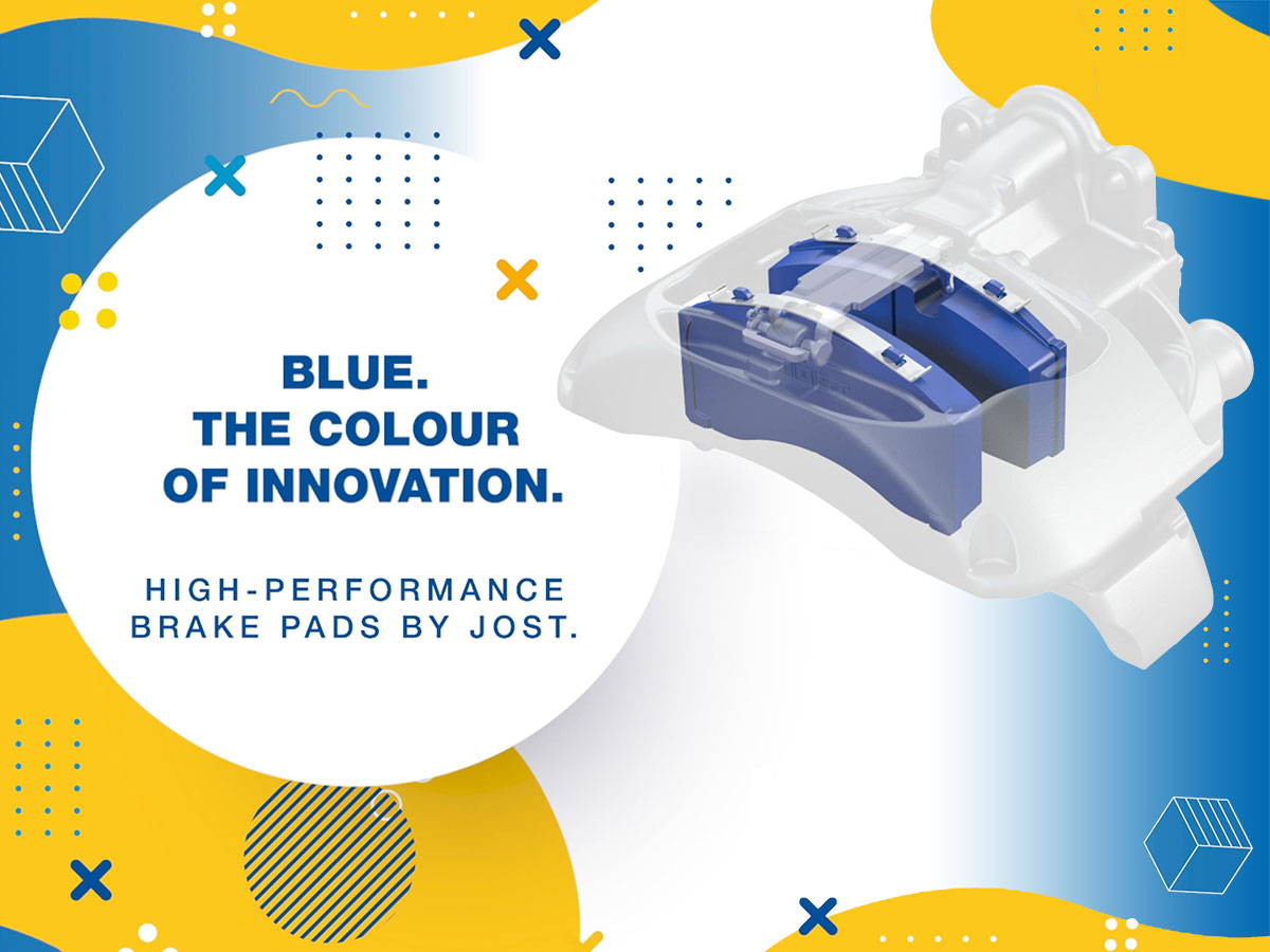 Blue, the colour of innovation: High-Performance Brake Pads by JOST